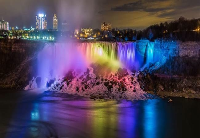Niagara falls LED lights